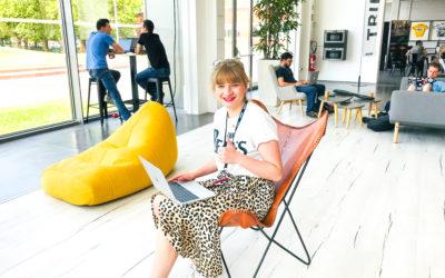 L'espace de coworking vu par Margot