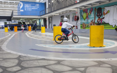 Apprendre à faire du vélo gratuitement à Lille : La zone kids du BTWIN Village