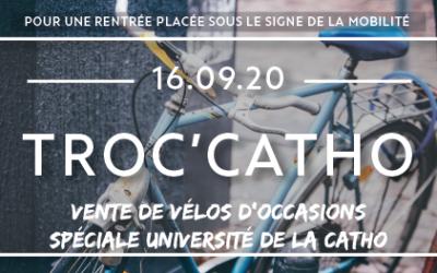 TROC'CATHO : Vente de vélos d'occasions pour le personnel de l'université catholique de Lille