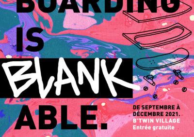 Skateboarding is Blankable, l'exposition qui mêle le skate à l'art !