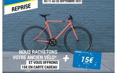 Du 11 au 26 septembre 15€ offerts en carte cadeau Decathlon